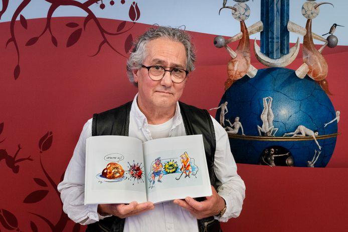 De 38 corona-illustraties - naast 49 Bossche Kletsploajkes - vervaardigde Guus Ong in opdracht van de lokale tv-zender DTV.