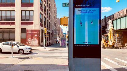 """Corona-illustratie van Bruggeling hangt over heel New York: """"Jammer dat ik niet zélf kan gaan kijken"""""""