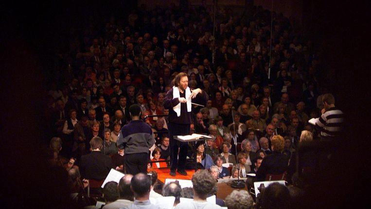 Archiefbeeld van repetities voor de Matthäus passion van 1999 in het Concertgebouw. Beeld anp