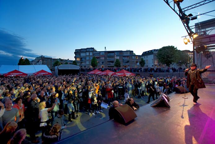 Concert Breda Zingt Hazes vorig jaar tijdens het Spanjaardsgat Festival in Breda.