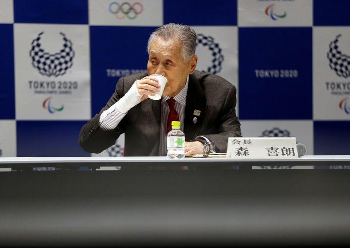 Yoshiro Mori, président du comité organisateur des Jeux de Tokyo.