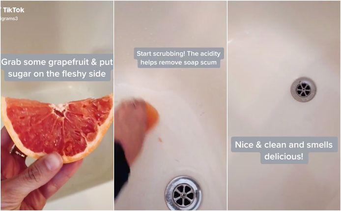 Ali Graham, utilisatrice de TikTok, nous fait part d'une astuce extrêmement simple et rapide pour nettoyer une baignoire sale.