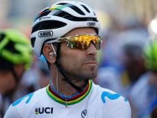 Le champion du monde Alejandro Valverde ne sera pas au départ du Giro