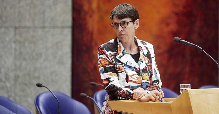 Staatssecretaris Jetta Klijnsma van Sociale Zaken in de Tweede Kamer. Beeld anp
