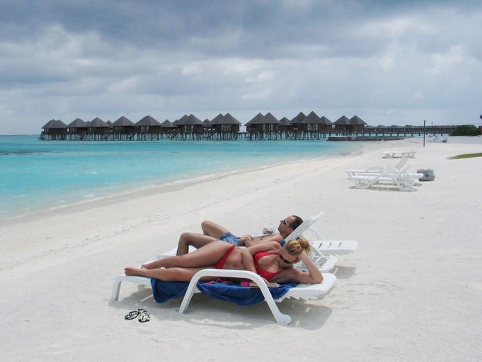 Strand op de Malediven.