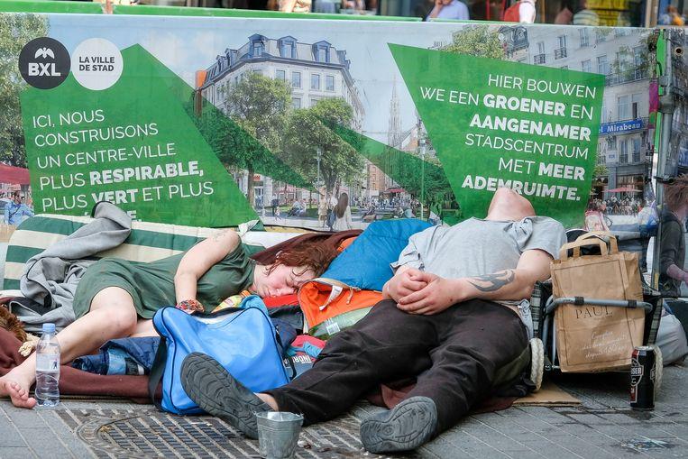 daklozen in de hitte