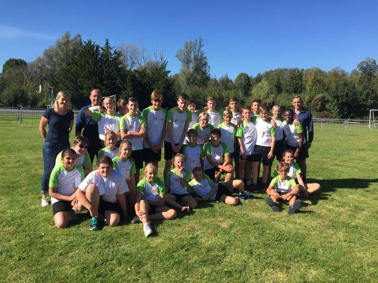 28 leerlingen van Middenschool namen deel aan de veldloop.