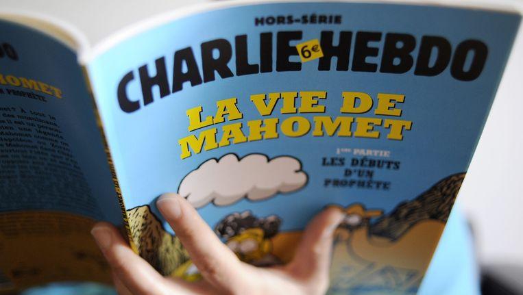 In januari 2012 bracht Charlie Hebdo een speciale editie uit over het leven van Mohammed. Beeld epa