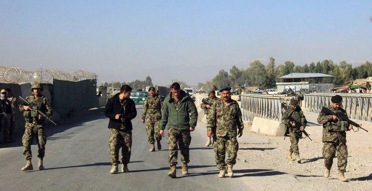In 2012 werd een Amerikaanse legerbasis in Afghanistan aangevallen door Talibanstrijders, waarbij twaalf Amerikanen werden gedood. Talibanwoordvoerder Zabihullah Mujahid eiste die aanslag op namens de islamitische terreurorganisatie. Beeld anp