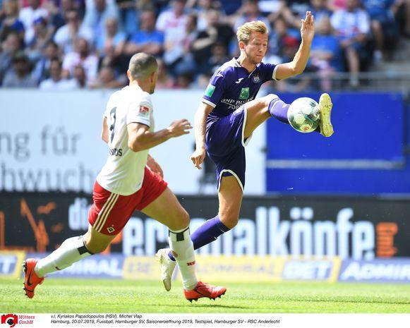 Michel Vlap, nog een Anderlecht-aanwinst, in actie.