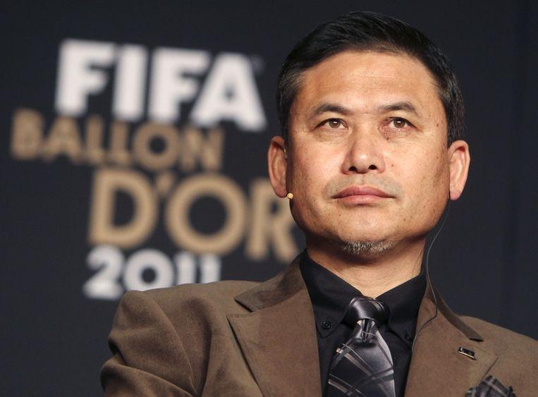 Norio Sasaki, trainer van het jaar in het vrouwenvoetbal. Beeld ap