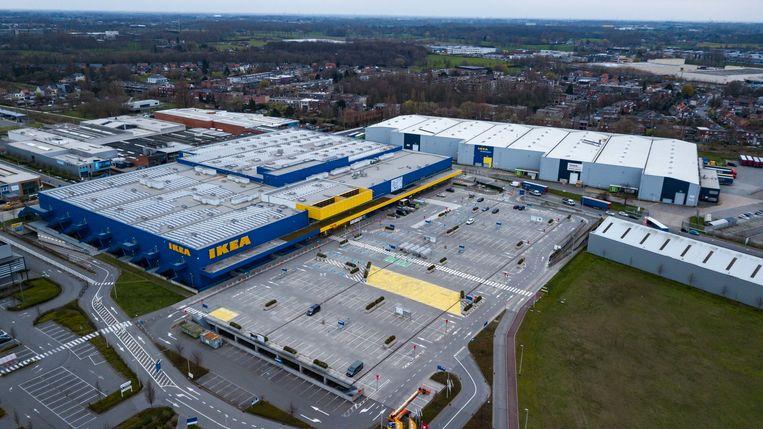 Lege Ikea-parking in Wilrijk