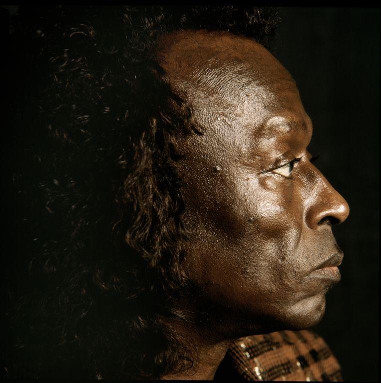 Jazzmuzikant Miles Davis in 1987.  Beeld null