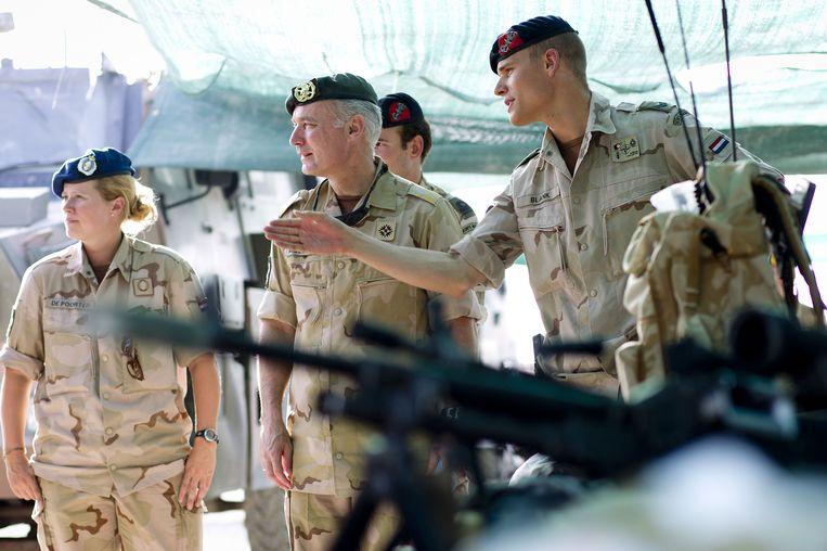 Nederlandse krijgsmachten in Kuduz, Afghanistan. Beeld ANP