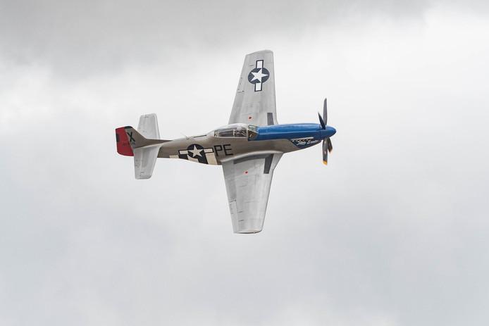 Een gevechtsvliegtuig van het type P-51D Mustang. Foto ter illustratie.