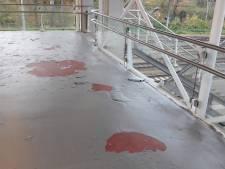Nieuwe coating op loopbrug station Dordrecht laat alweer los