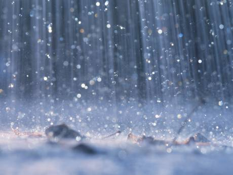 We hadden regen in Brabant en hier viel het meest