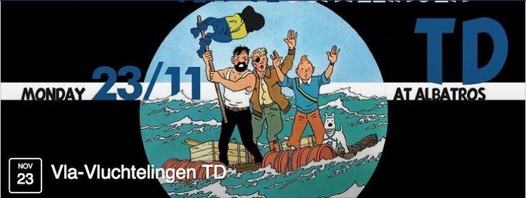 Op deze manier promoot studentenclub Vla-Vla Louvain haar Vluchtelingen TD.