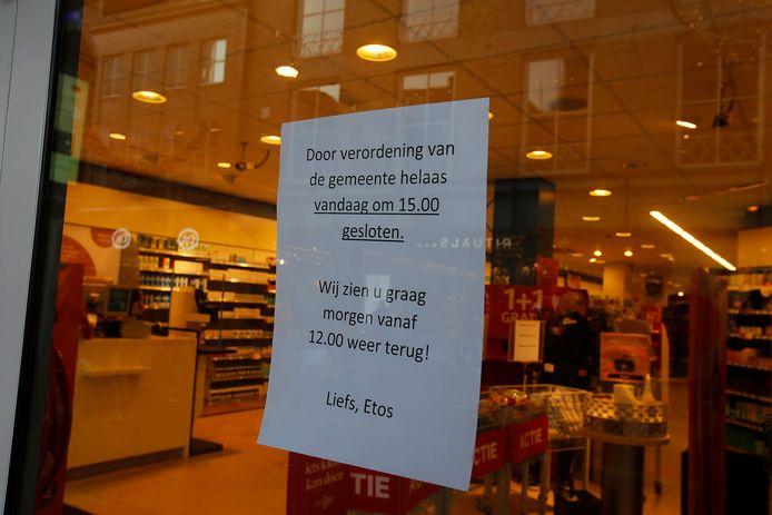 In Eindhoven gingen de winkels eerder dicht omdat het te druk was geworden in de binnenstad.