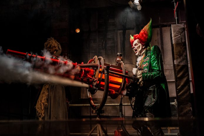Eddie de Clown regeert over Walibi tijdens de Halloween Fright Nights.
