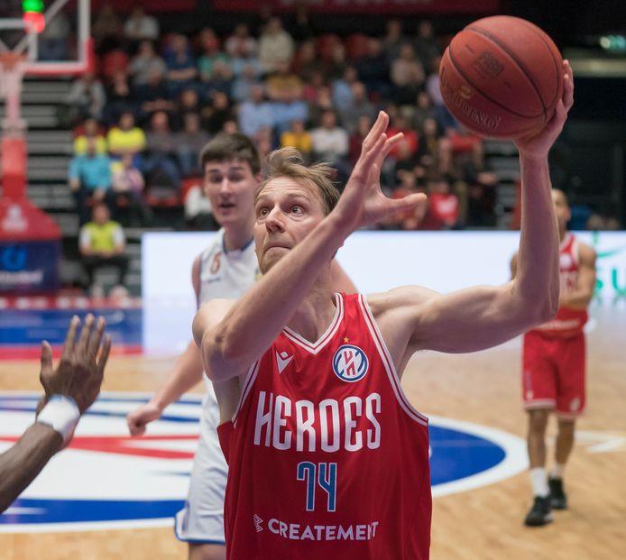Henk Norel in actie voor Heroes Den Bosch.