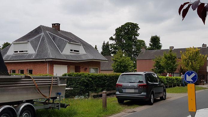 Het huis van het slachtoffer.