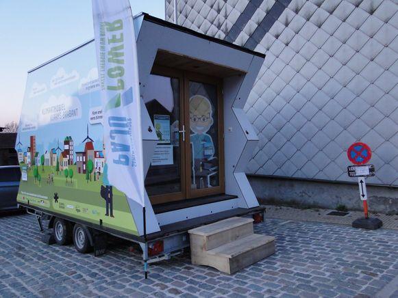 Van 10 tot en met 20 juni staat De Klimaatmobiel op de parking van de Warandestraat.