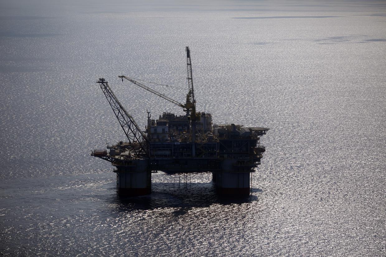 Olieplatform van Chevron in de Golf van Mexico.