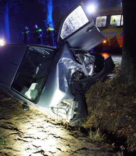 Auto vliegt uit de bocht tegen een boom in Winterswijk