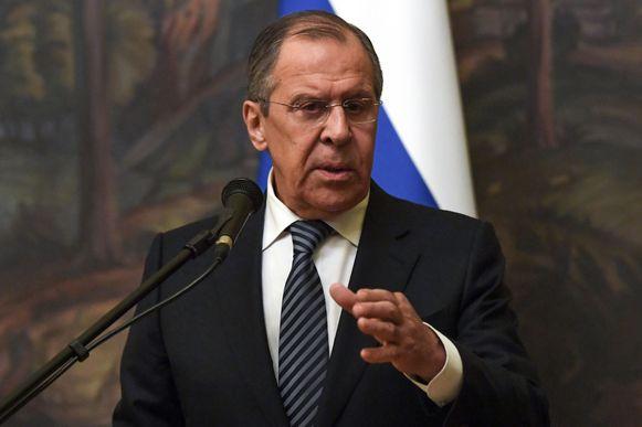 De Russische minister van Buitenlandse Zaken Sergej Lavrov