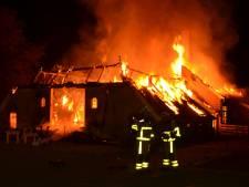 Opnieuw grote brand in Vorden: vuurzee verwoest boerderij