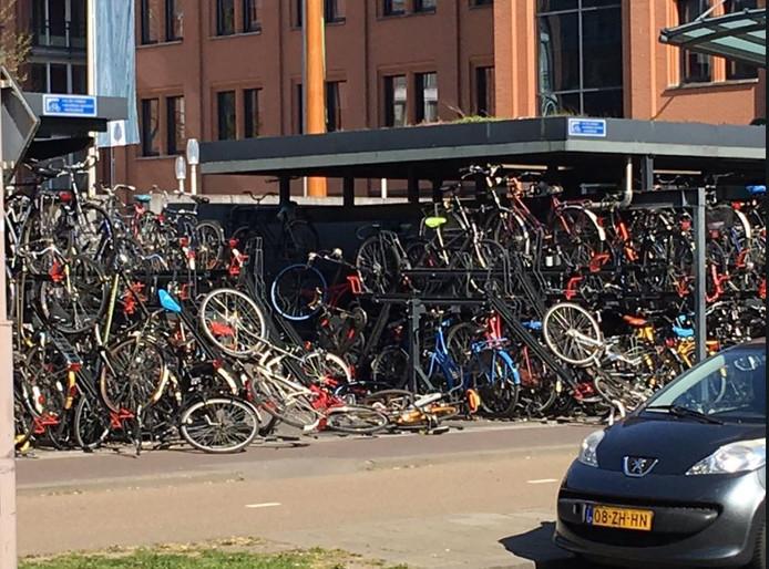 Vandalisme in de fietsenstalling van het Paleiskwartier