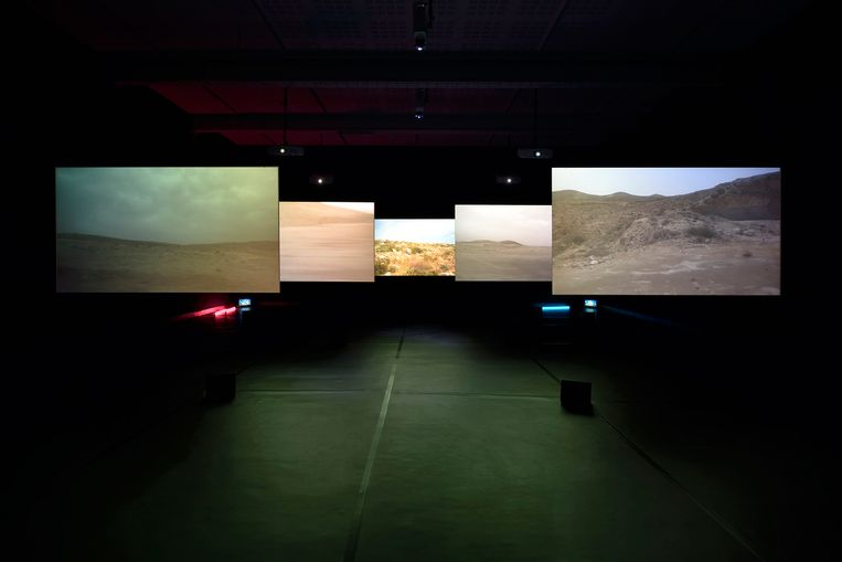 Installatie van Akerman in filmmuseum Eye. Beeld Chantal Akerman, filmmuseum Eye