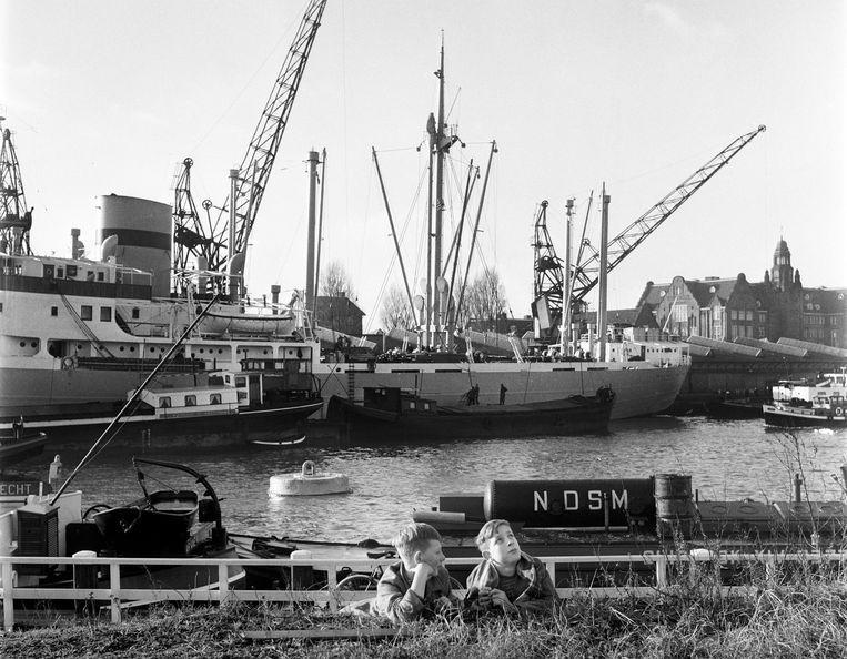 IJhaven, 1961. Beeld Bert Sprenkeling / MAI
