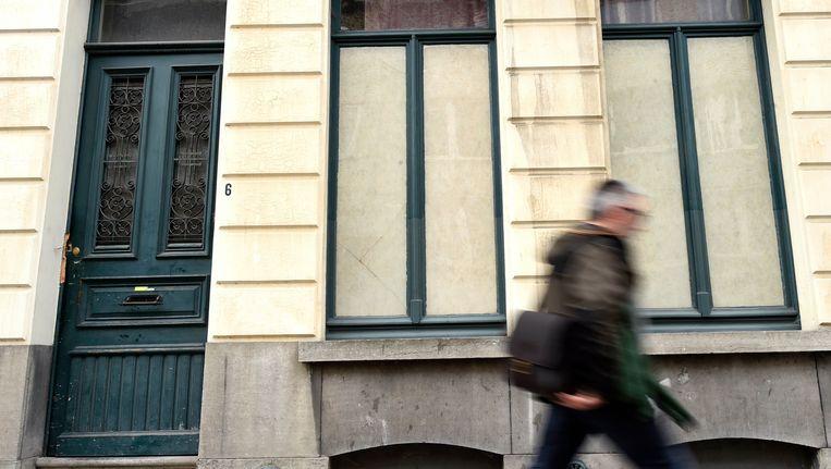 Het huis in Gent dat door Roma gekraakt is.