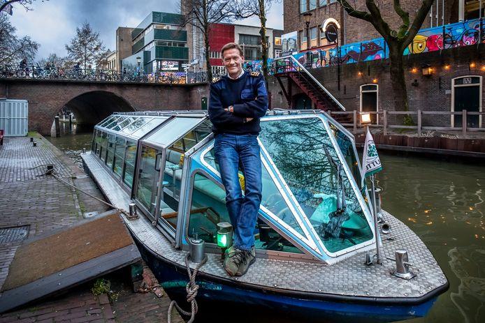 Ed Jansen, schipper op rondvaartboot van rederij Schuttevaer.