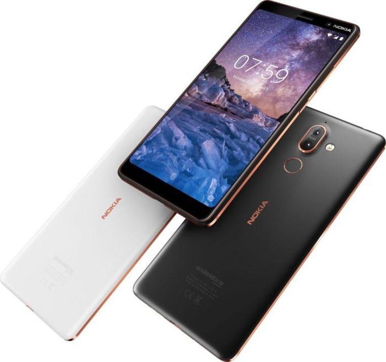 De Nokia 7 Plus, in al zijn kleuren.