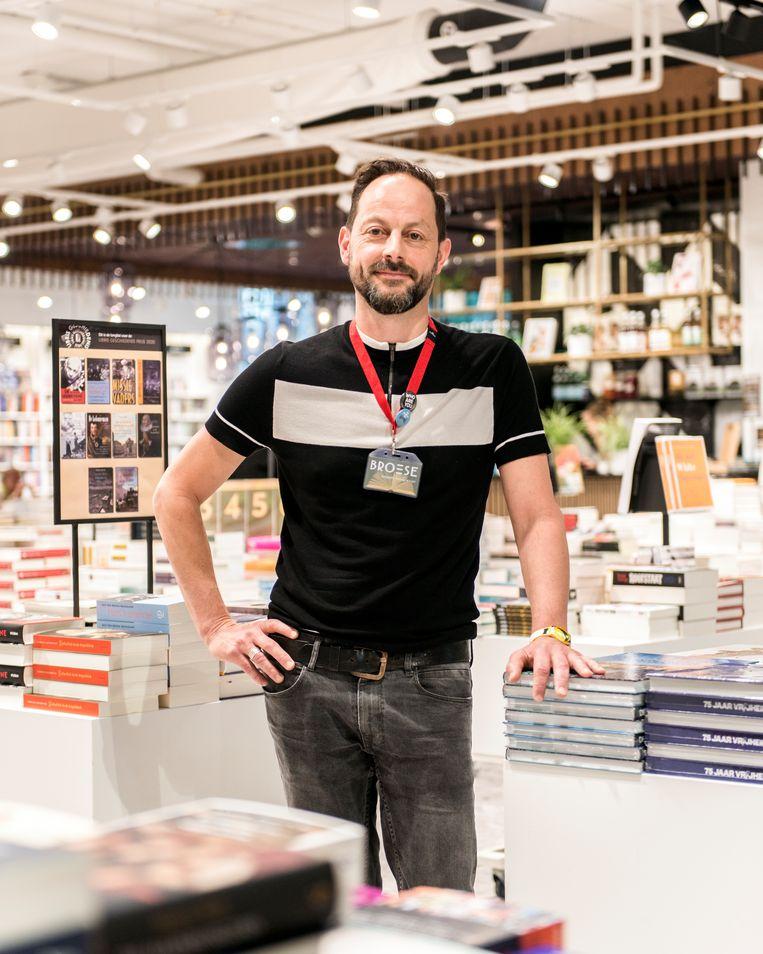 Bertram Borkes van boekhandel Broese in Utrecht. Beeld Eva Faché