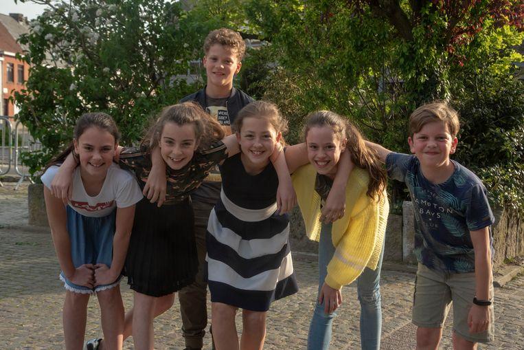 Ada, Fiep, Fien, Noa, Guust en Briek organiseren samen met hun ouders een benefiet voor drie goeie doelen in Wetteren.