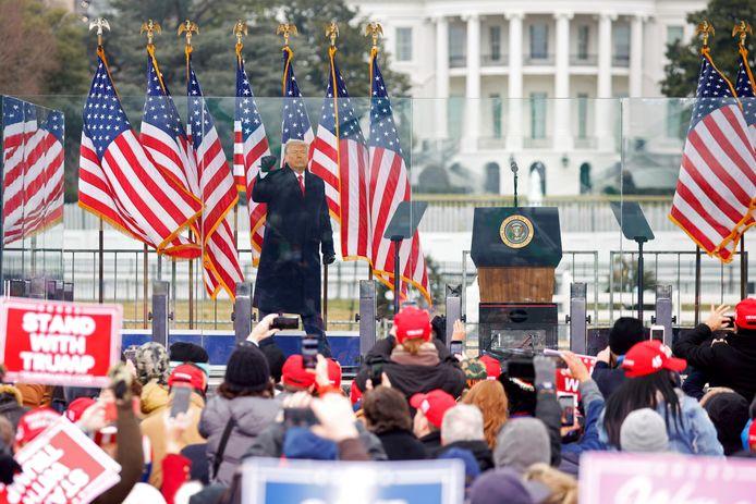 Donald Trump net voor zijn speech.
