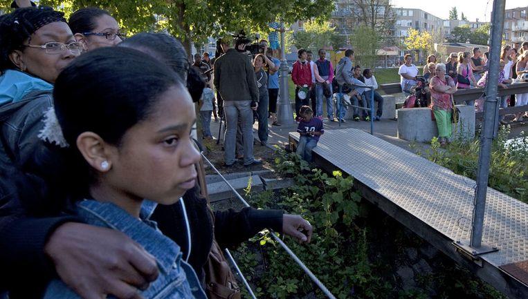 Veel familie, vrienden, klasgenootjes, leerkrachten en buurtbewoners woonden de zeer emotionele begrafenis bij, lietde stadsdeelvoorzitter van Westerpark, Martien Kuitenbrouwer na afloop weten. Foto ANP Beeld