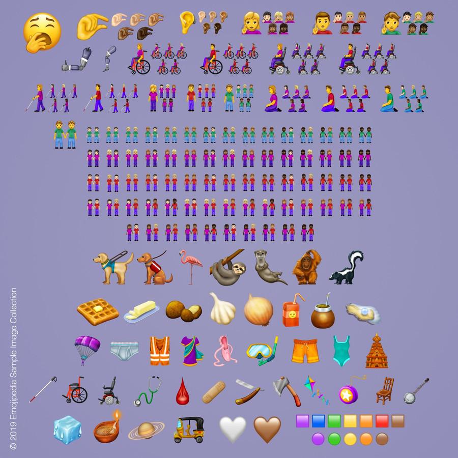 De nieuwe emoji's van 2019