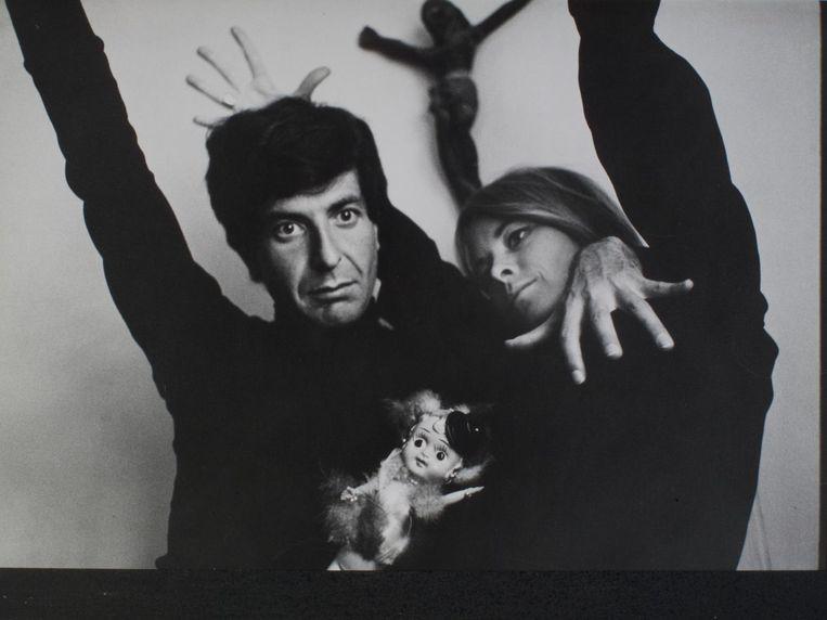 Leonard Cohen en Marianne Ihlen in de jaren zestig.