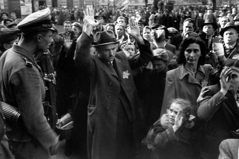 Deportatie van Joden in Boedapest, 1944.
