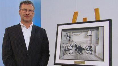 Jan Verheyen brengt Mickey Mouse-schilderij naar 'Stukken Van Mensen'