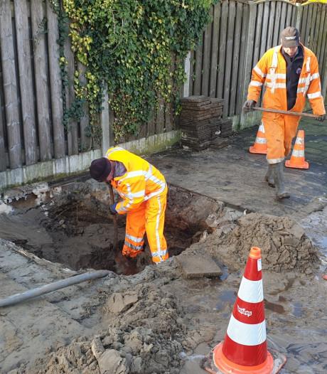 Gesprongen waterleiding in Bunschoten, huishoudens zonder water