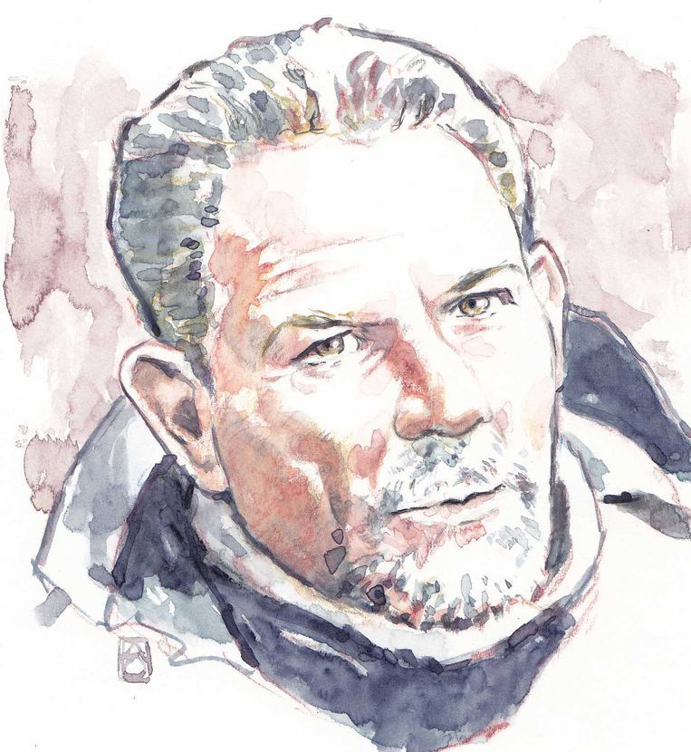 Aquarel van Jos B., die wordt verdacht van betrokkenheid bij de dood van Nicky Verstappen in 1998. Beeld ANP