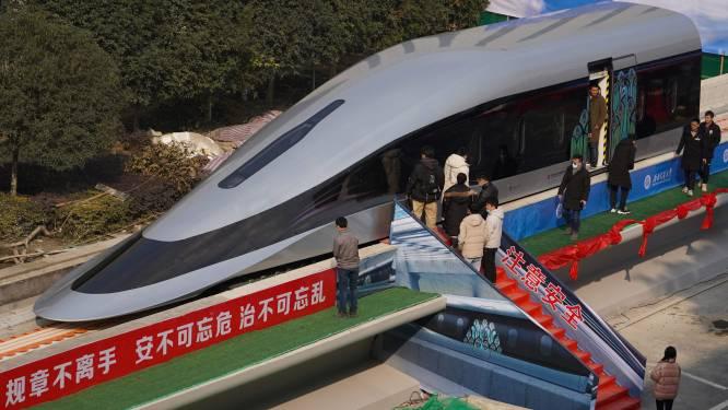 Met een duizelingwekkende 620 km/u in de trein: China werkt eraan
