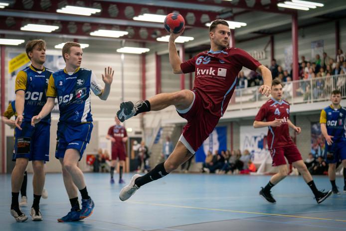 DFS Arnhem vorig seizoen in actie in de nacompetitie tegen Lions 2.