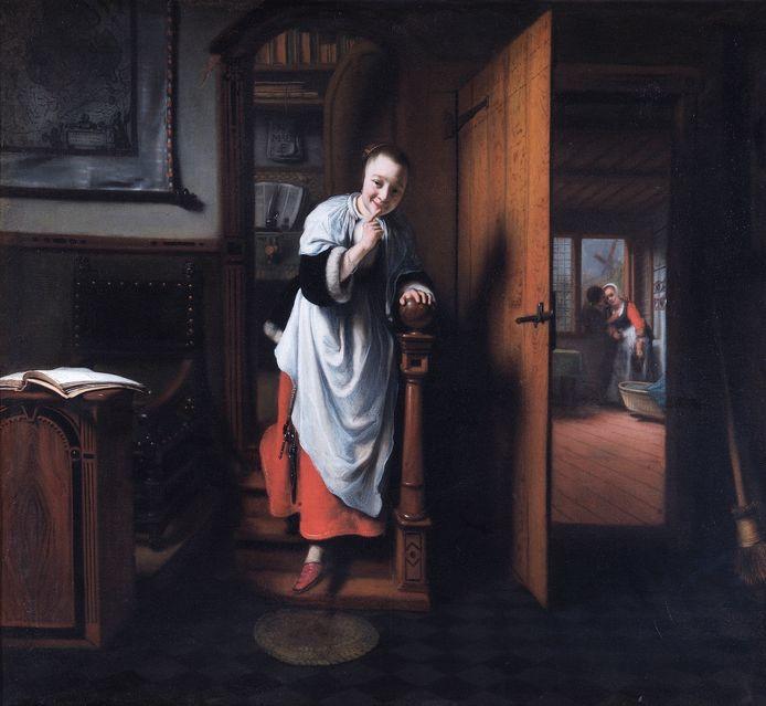De Luistervink van Nicolaes Maes.
